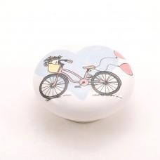 Porselen Bisikletli Bebek - Çocuk Odası Kulpu