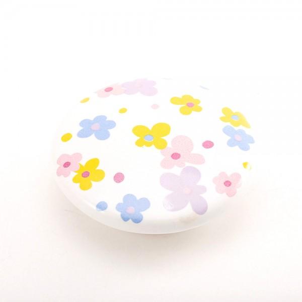 Porselen Çiçekli Bebek - Çocuk Odası Kulpu