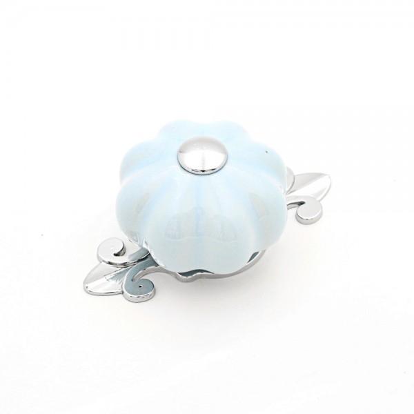Porselen Kavuk Mavi Düğme Kulp