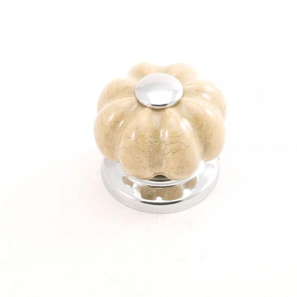 Porselen Krom Rustik Düğme Kulp