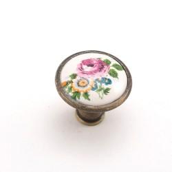 Porselen Romantik Düğme Kulp