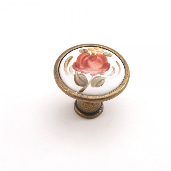 Porselen Romantik(El Dekor) Düğme Kulp