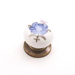 Porselen Yıldız (El Dekor) Düğme Kulp