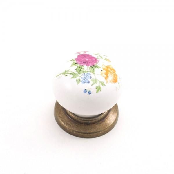 Porselen Yıldız Düğme Kulp