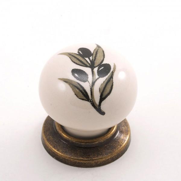 Porselen Büyüktop Düğme Kulp