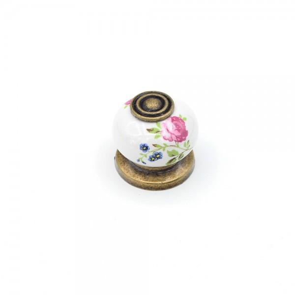 Porselen Serigraf Düğme Kulp