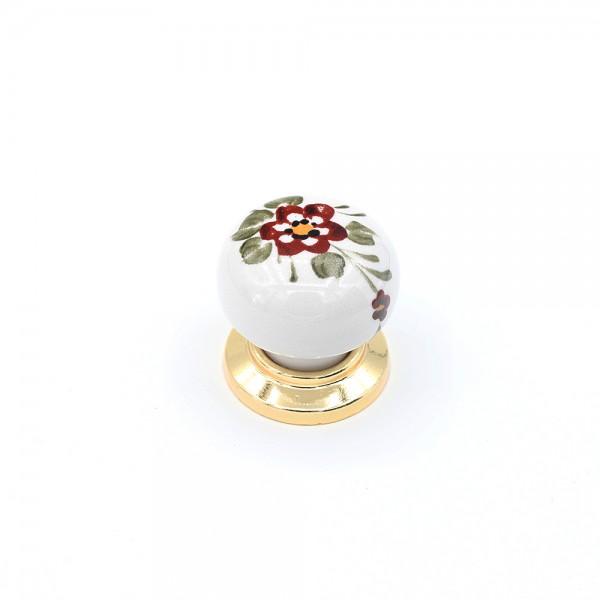 Porselen Yıldız El Dekor Düğme Kulp