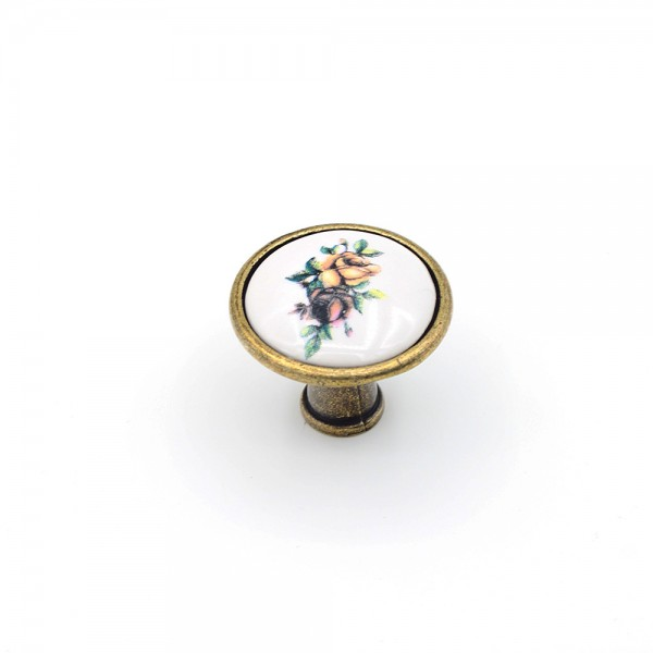 Porselen Romantik Ser. Düğme Kulp