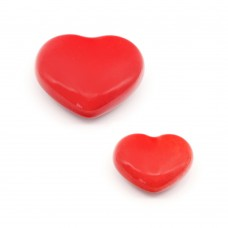 Porselen Kalp Düğme Kulp